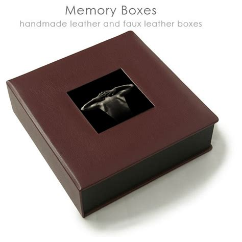 Handmade Memory Boxes - leather custom memory box photographer los angeles
