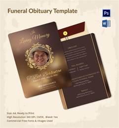 5 funeral obituary templates free word pdf psd