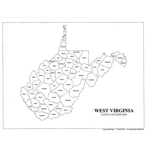 west virginia county map west virginia county map jigsaw genealogy