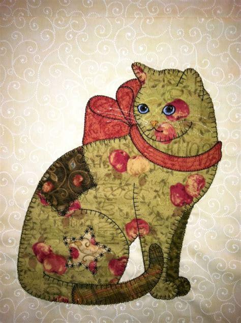 Blue Cats Patchwork - 1000 ideas about cat applique on cat quilt