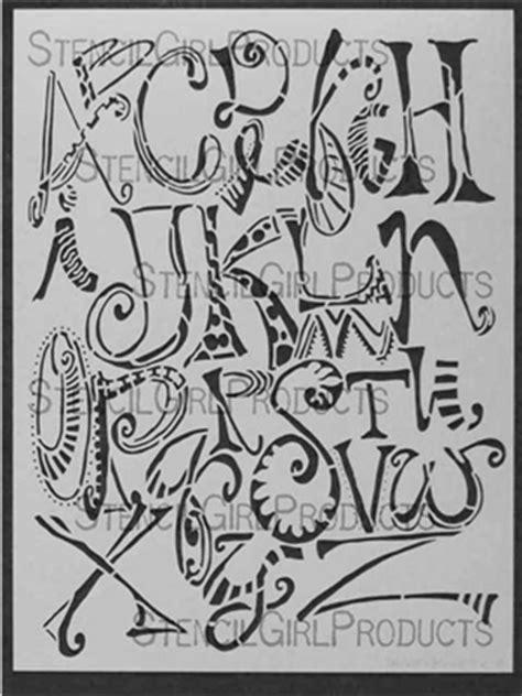doodle signs baldwin alpha doodles stencil joanne sharpe stencilgirl products