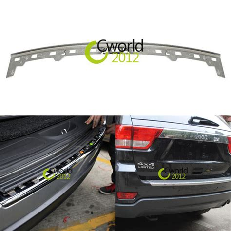 chrome auto rear bumper protector trim for jeep grand