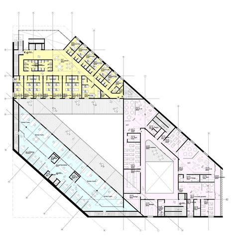 youth center floor plans euralille youth centre in lille france by jds architects