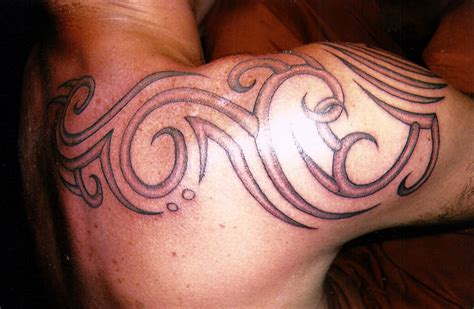 shaded tribal tattoos tribal shading big magic koh phangan thailand