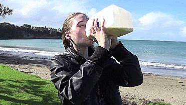 2 litre milk challenge a model downed three litres of milk as part of a