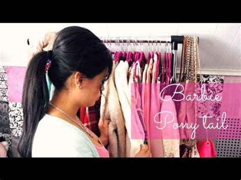 how to make drawstring ponytail from scratch barbie pony tail hair tutorial hair style do step by