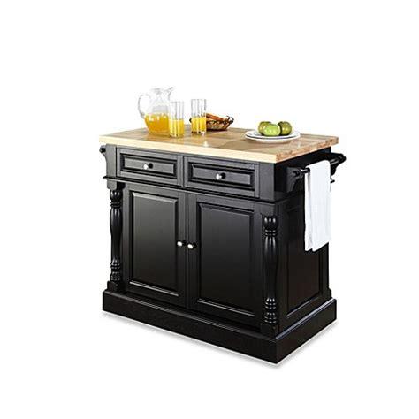 buy black kitchen islands from bed bath beyond buy crosley butcher block hardwood kitchen island in black