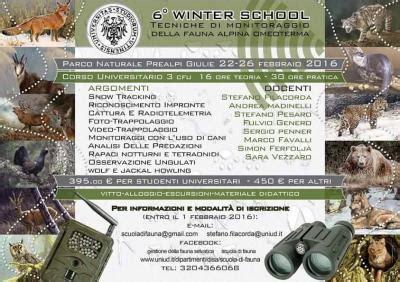 ufficio tirocini udine winter school tecniche di monitoraggio e cattura della