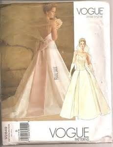 wedding dress patterns vogue sewing pattern v2849 wedding bridal gown sizes 12 14 16 uc sewing patterns