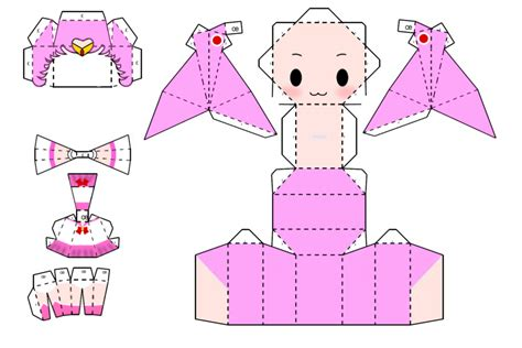 Sailor Moon Papercraft - sailor chibi moon papercraft by mosu mosu on deviantart