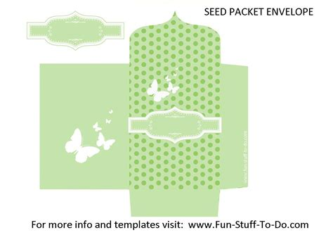 money packet template seed packet envelope