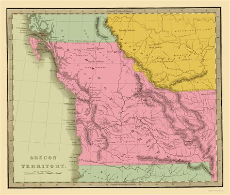 map of oregon 1840 state maps oregon territory or by g r