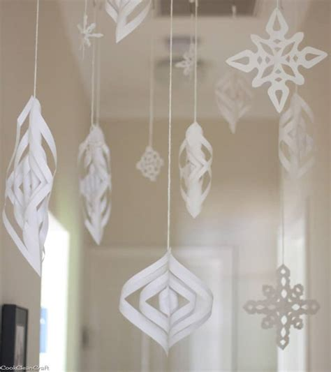 diy recycled decoration idea for hang on ceiling indoor winter tutorial cook clean craft