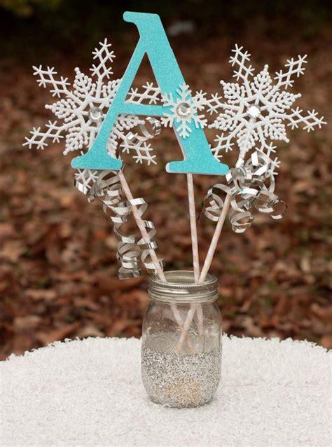 winter snowflake centerpieces frozen birthday winter onederland initial
