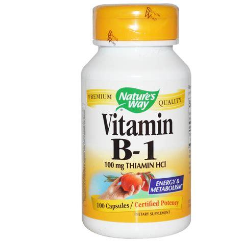 Vitamin B1 Nature S Way Vitamin B 1 100 Mg Thiamin Hcl 100
