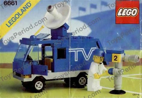 E 6661 M lego 6661 mobile tv studio set parts inventory and
