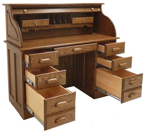 solid oak roll top desk crafted in the tradition of the old masters