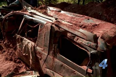 buried in the backyard watch family finds mystery suv buried in their back yard upi com