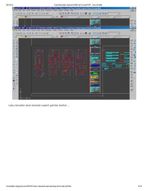 format dwg in pdf cara merubah autocad dwg ke format pdf