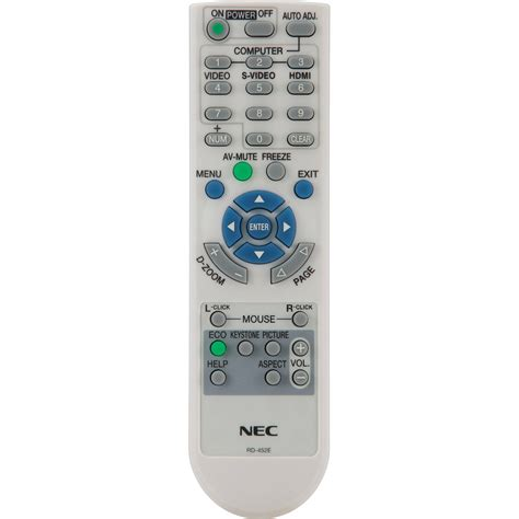 Remote Proyektor Nec Nec Rmt Pj32 Replacement Remote Rmt Pj32 B H Photo