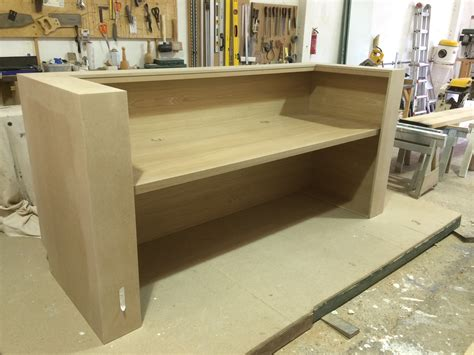 Large Reception Desk Large Reception Desk And Oak Desks For Banbury Park In Walthamstow