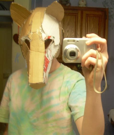 How To Make A Wolf Mask Out Of Paper - wolf mask base by the rabbits soul on deviantart