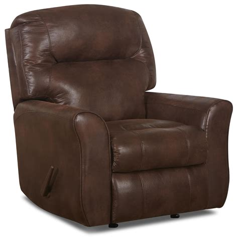 recliner pillows schwartz casual leather reclining chair with attached back