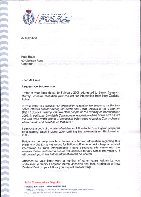 pca cover letter transparency in new zealand kiwikileaks september 2010