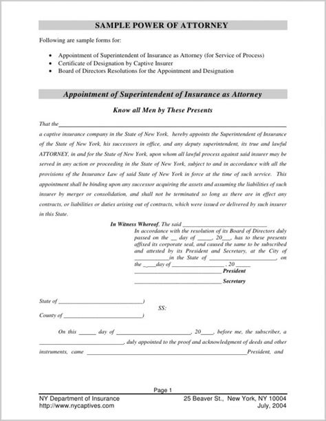 corporate power of attorney template pa unemployment compensation power of attorney form form