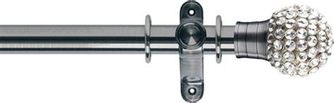 brushed silver curtain pole buy museum galleria 50mm brushed silver effect metal