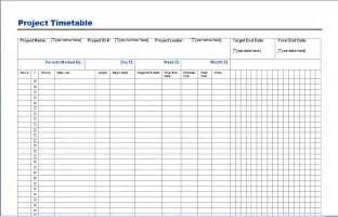 Templates For Projects by Project Timetable Template Free Layout Format