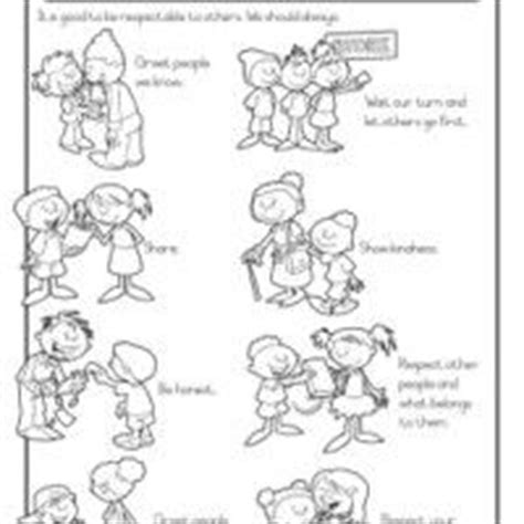 worksheets for preschoolers on manners manners and responsibility schoolwork grade 1