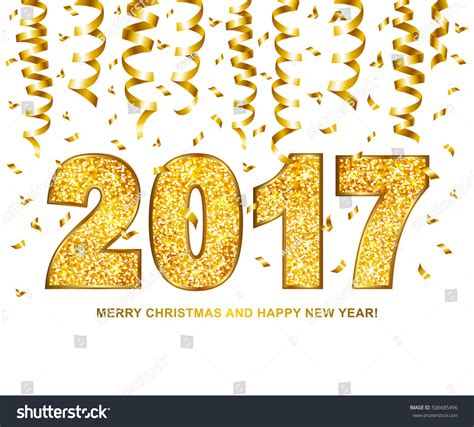 new year texture vector happy new year 2017 type gold stock vector 506685496