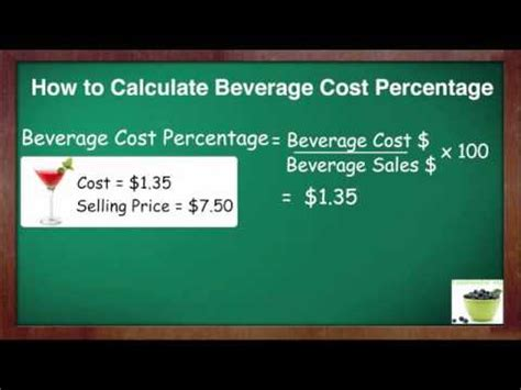 what is the average cost of a 1 bedroom apartment how to calculate beverage cost percent youtube