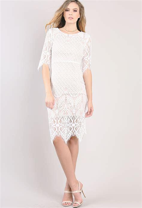 eyelash lace hem mini dress shop out dresses at