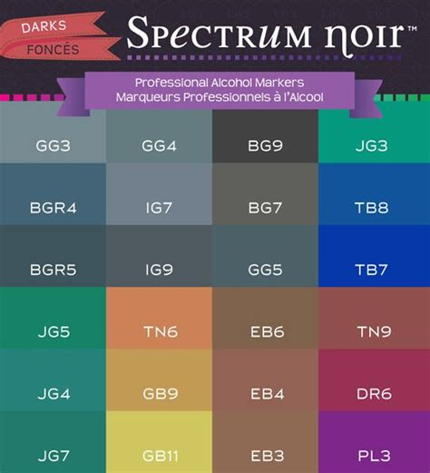 spectrum 24 the best 1933865997 best 25 spectrum noir markers ideas on spectrum noir noir color and spectrum noir