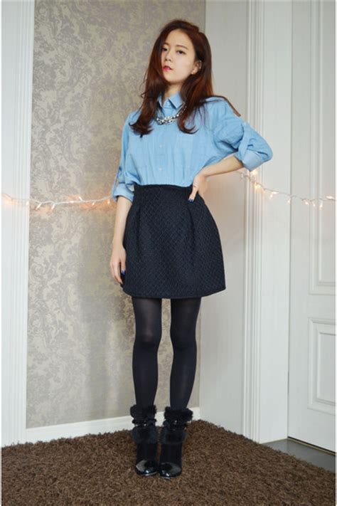 Shirt Pleated Skirt box pleat skirt q2han skirts denim shirt banggood shirts