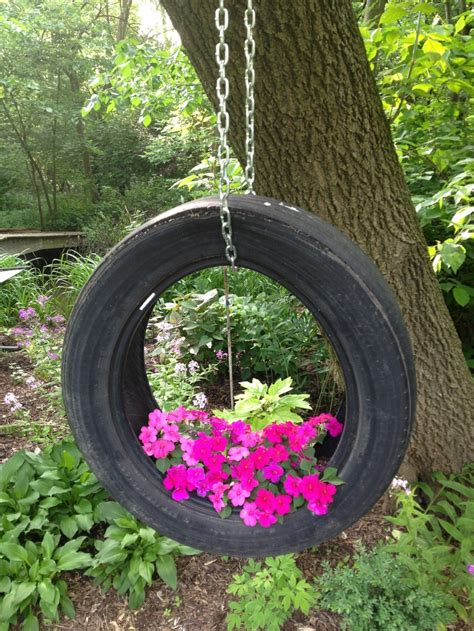 Tire Planters by Hanging Tire Planter Home