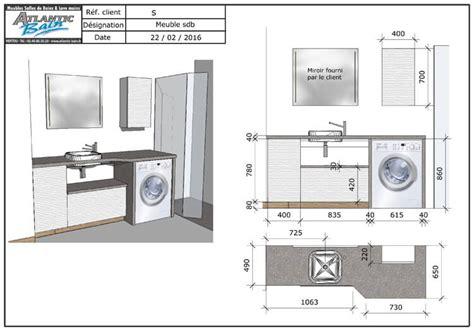 Meuble Salle De Bain Pour Lave Linge by Un Meuble Au Design Moderne Avec Lave Linge Et Panier