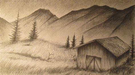 imagenes no realistas artes visuales para dibujar c 243 mo dibujar un paisaje realista a l 225 piz paso a paso youtube