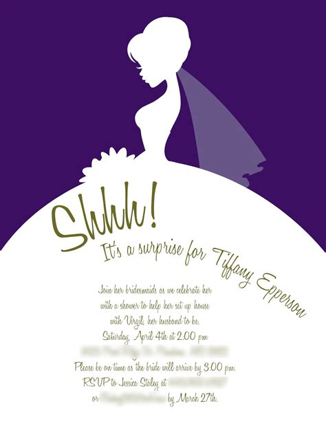 bridal shower template wedding invitations wedding plan ideas