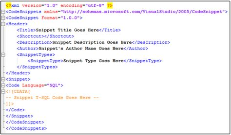 t sql how to create and manage t sql code snippets