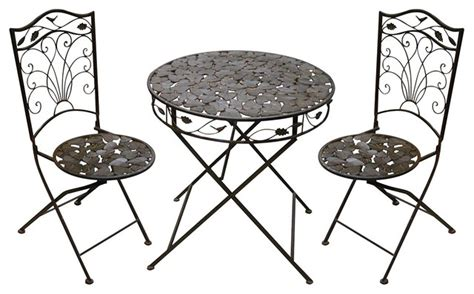 Indoor Bistro Table And 2 Chairs Iron Bistro Set 1 Table And 2 Chairs Indoor Pub And Bistro Sets By Alpine Corporation