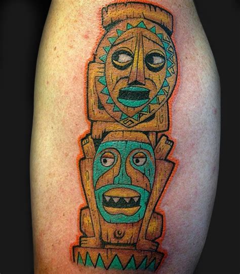 tiki man tattoo designs tiki mask sleeve masks for acne