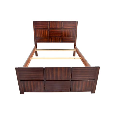 Brown Wood Bed Frame Beds Used Beds For Sale