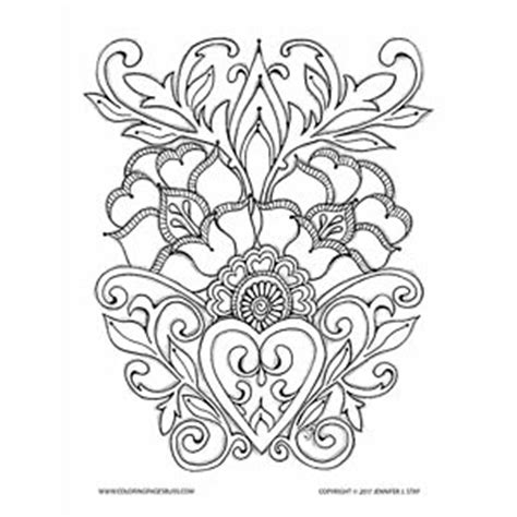 coloring pages bliss youtube floral motif valentine art