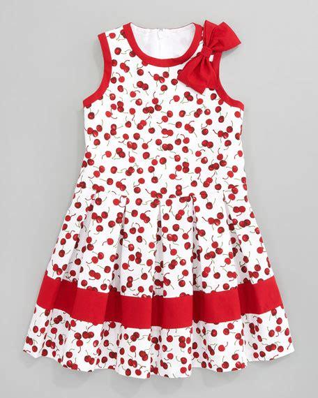 kirsch plissee david charles cherry pleated dress