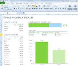 microsoft excel budget template 2013 simple monthly budget spreadsheet for excel 2013