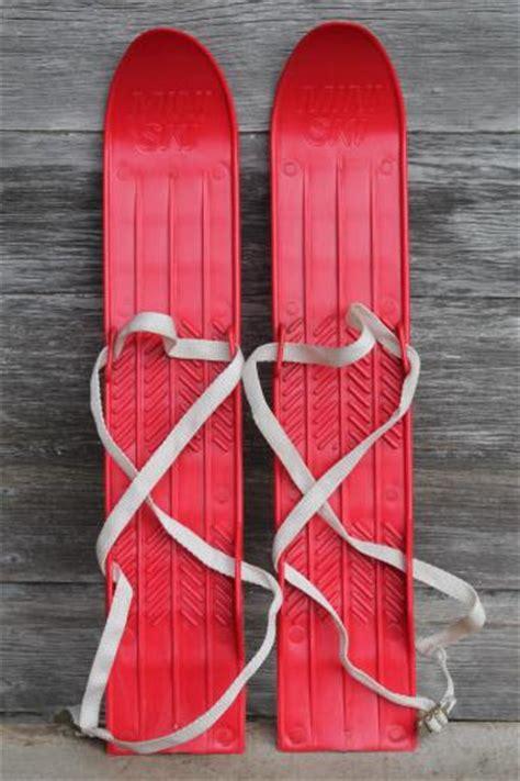 Home Decoration Lamps vintage child s size skis red plastic mini ski set w