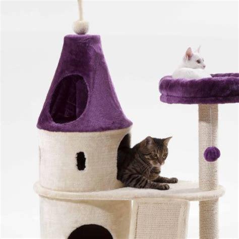 Cat Tree Big 10 Istana Kucing Cat Castle cat house castle design cat tree luxury purple fancy cat tree sisal pad free shipping in cat